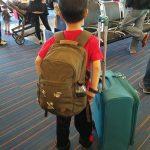 My world traveler waiting for his next flight.